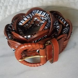 Missoni -Brown and Black Woven Leather Belt